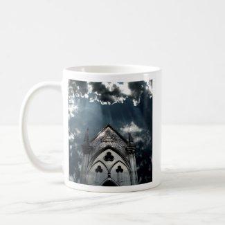 Rays of light cemetery mug mug