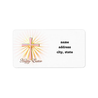 Rays of Light from the Religious Cross (On White) Personalized Address Labels