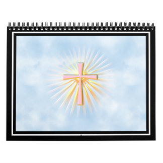 Rays of Light from the Religious Cross (W/Clouds) Wall Calendar
