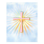 Rays of Light from the Religious Cross (W/Clouds) Flyers