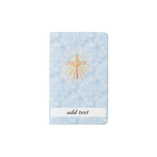Rays of Light from the Religious Cross (W/Clouds) Pocket Moleskine Notebook