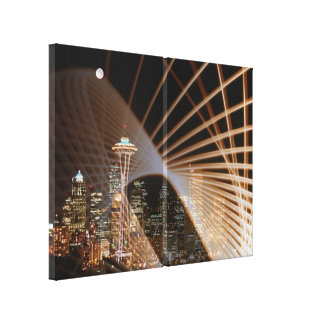 Rays of Light In The Night Stretched Canvas Print
