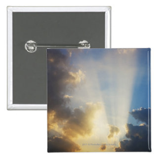 Rays Of Light Shining Through The Clouds 2 Inch Square Button