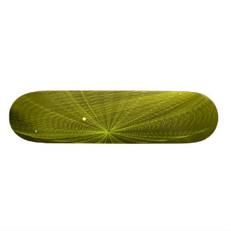 Rays of Psychedelic Electric Green Skate Deck