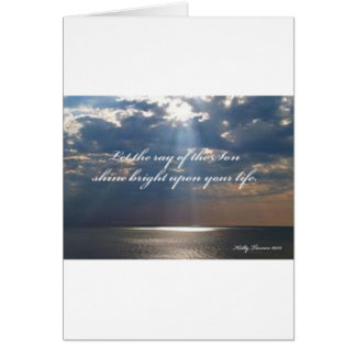 Rays of Son Inspirational Poem Card