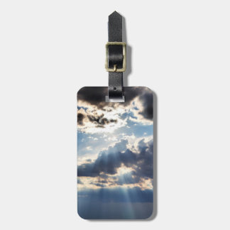 Rays of sunshine from above bag tag