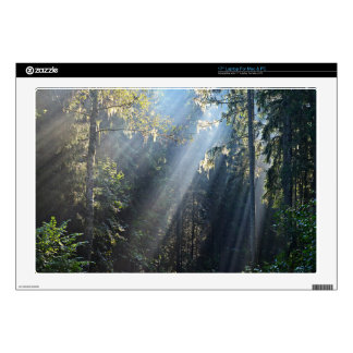"""Rays Of Sunshine In Latvian Forest 17"""" Laptop Skins"""