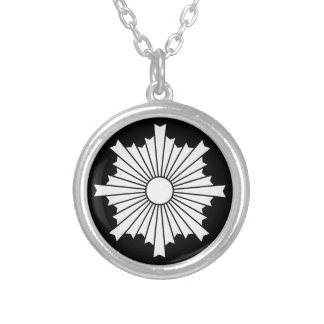 Rays of the rising sun silver plated necklace