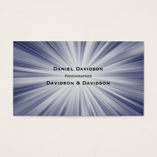 Rays of White Light on Blue Business Card