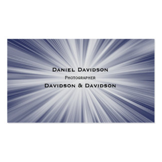 Rays of White Light on Blue Business Card Template