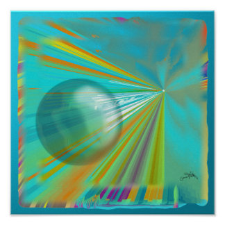 Rays on Planet Poster