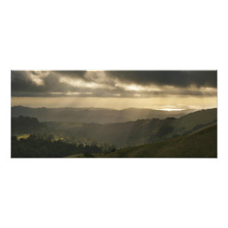 Rays over Pacific Ocean Photo Print