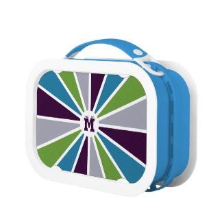 Rays Pattern custom monogram lunch box