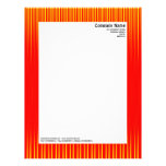 Rays - Red and Yellow Letterhead Design