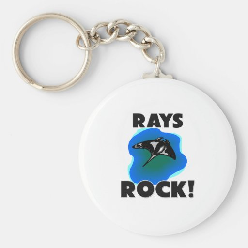 Rays Rock Basic Round Button Keychain