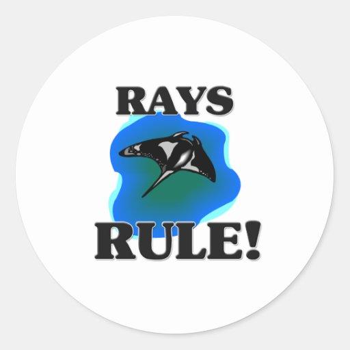 RAYS Rule! Round Sticker