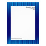 Rays - Shades of Blue Custom Letterhead