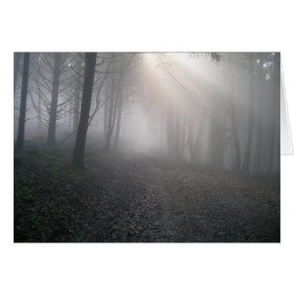 Rays Through Fog Greeting Card