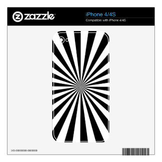 RAYS transparent (a black & white design) ~ Decal For The iPhone 4