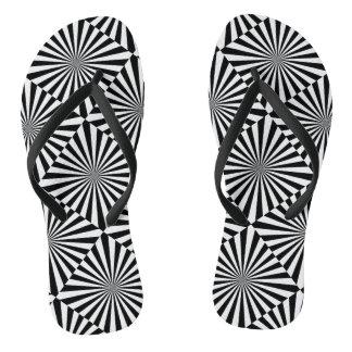 RAYS transparent (a black & white design) ~.png Flip Flops