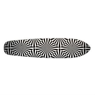 RAYS transparent (a black & white design) ~ Skateboard Deck