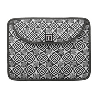 RAYS transparent (a black & white design) ~ Sleeve For MacBook Pro