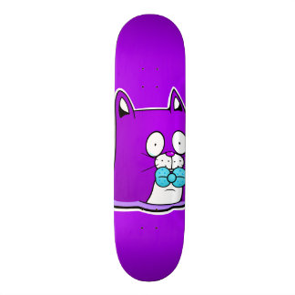 Rayshine GHOST TOON™ Purple Cat Skateboard
