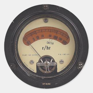 Raytheometer Sticker de profesor Temple's Etiquetas Redondas
