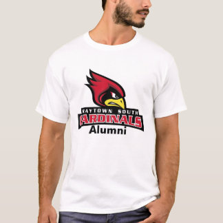 Raytown Cardinals Head Text, Alumni T-Shirt