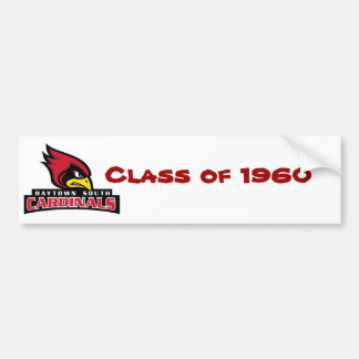 Raytown Cardinals Head Text, Class of 1960 Bumper Sticker