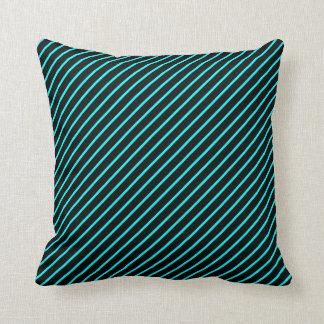 rayure bleu throw pillow