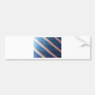 Rayures Bleu / Rose Personnalisable Bumper Sticker