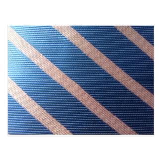 Rayures Bleu / Rose Personnalisable Postcard