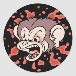 Raz Putin, The Mad Monkey Classic Round Sticker