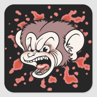 Raz Putin, The Mad Monkey Square Sticker