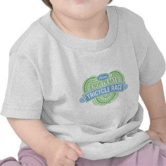 Raza anual del triciclo (azul y verde) camiseta