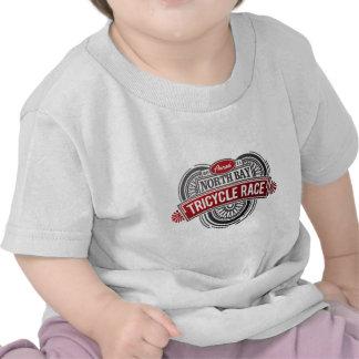 Raza anual del triciclo (negro y rojo) camisetas
