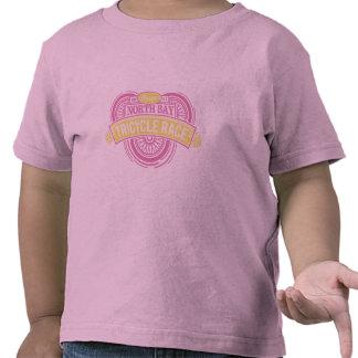 Raza anual del triciclo (rosa y amarillo) camisetas
