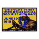 Raza auto 1915 de Chicago Impresiones