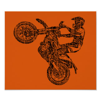 Raza campo a través del moto poster