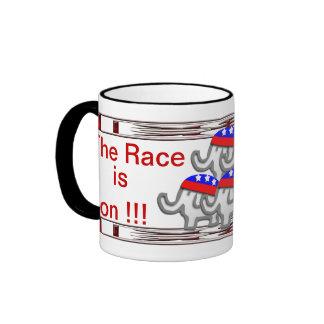 Raza de 2012 republicanos taza de dos colores