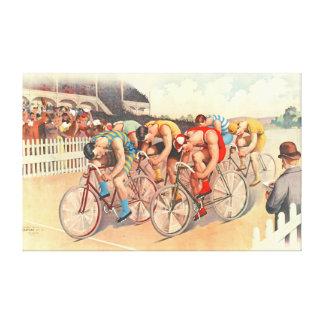 Raza de bicicleta 1895 impresión en lienzo estirada