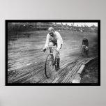 Raza de bicicleta de seis días 1909 impresiones