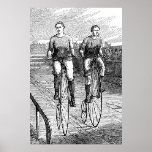 Raza de bicicleta del Victorian Póster