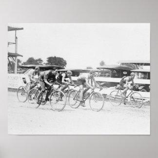 Raza de bicicleta en fotografía del Washington DC Póster