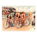 Raza de bicicleta tarjeta postal