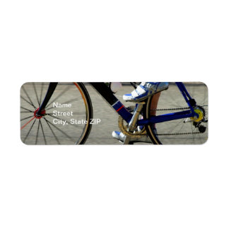 Raza de la bici etiqueta de remite