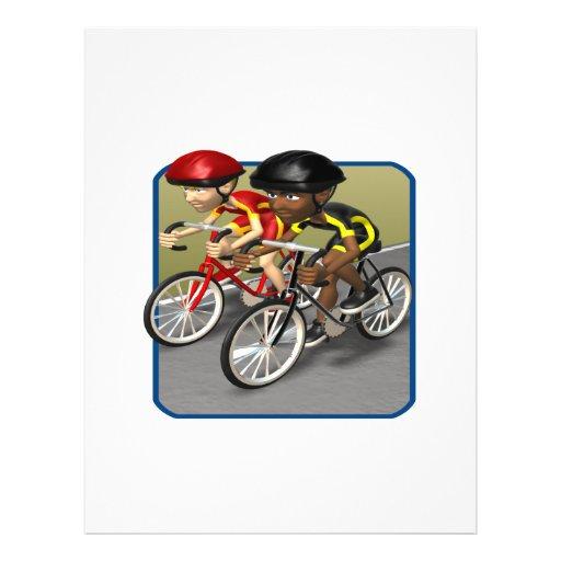 Raza de la bici flyer personalizado