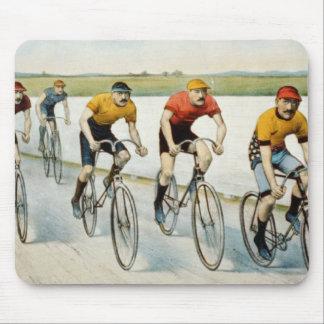 Raza de la bici mouse pad