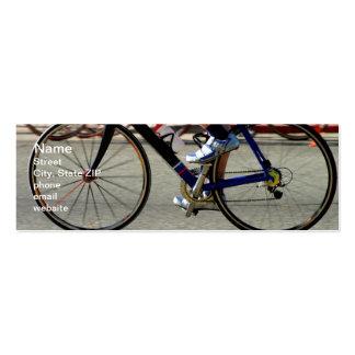 Raza de la bici tarjetas de visita mini